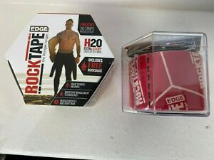 ROCKTAPE EDGE H2O RED LOGO KINESIOLOGY precut strips