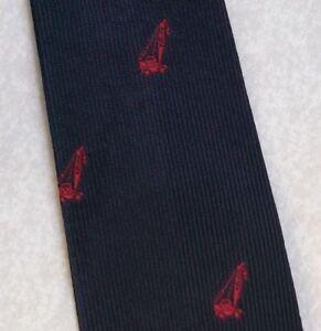 Vintage Tie MENS Necktie Crested Club Association Society NAVY RED