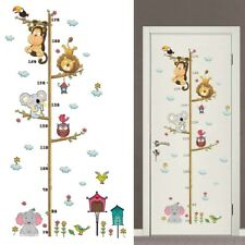 Waterproof Vinly Decal Growth Chart Height Ruler Amusing Wall Art Sticker