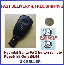 Hyundai Santa fe 2 button REMOTE KEY FOB REPAIR KIT MICRO SWITCHES BATTERY