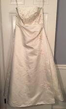 Davids Bridal Michaelangelo Strapless Beaded Wedding Dress & Veil Ivory White 18