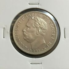 INDIA-PORTUGUESE (GOA) 1 Rupia 1881, Ruler:LUDOVICUS I, Silver coin   [#M2143]