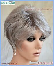 Sythetic Short Hair Wig for Women  COLOR GREY #56 SALT & PEPPER  CUTE STYLE 1198