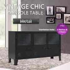 Sideboard Metal Industrial Style 120x35x70 Cm Black vidaXL