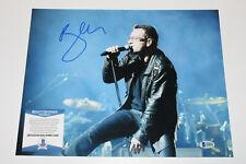 Bono U2 Singer Signed Live 11X14 Photo Band Joshua Tree Vertigo Beckett Bas Coa