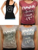 Armani Exchange Stunning Designer T Shirt Top Tee A/X AX A|X Rhinestone Bnwt NEW