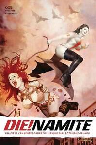 DIE!NAMITE #5 HOMAGE FOC BONUS VARIANT VAMPIRELLA RED SONJA SPIDER-MAN GOBLIN