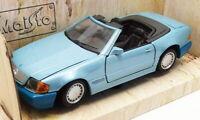 Maisto 1/24 Scale Diecast 31901 - 1989 Mercedes Benz 500SL - Light Blue