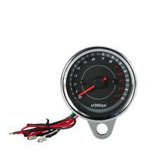 Universal 13KRPM Shift Meter Motorcycle LED Backlight Tachometer Speedometer 12V