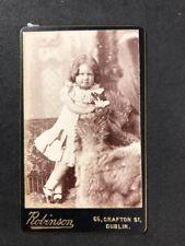 Victorian Carte De Visite CDV: Child: Robinson: Dublin
