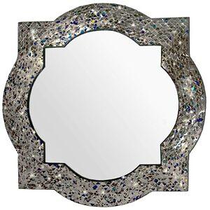 """Andalusian Quatrefoil Mirror 24""""X24"""" Wall Mirror (Multi Silver) - Open Box"""