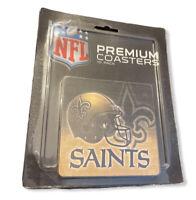Vintage New Orleans Saints Premium Coasters 10 Pack NFL Football