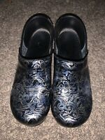 DANSKO Black And Silver Clog Size EURO 40