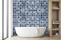 3D Edelstein Blau Gitte 3 Textur Fliese Marmor Tapete Abziehbild Tapete Wandbild