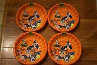 Set (4) of Halloween Taz Tasmanian Devil Looney Tunes Deep Dish Plastic Bowls