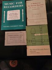 Vintage/Collectables Music Books For The Recorder including teach yourself
