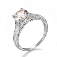 Classic White Gold Plated Made With Swarovski & Cubic Zirconia Crystal Ring R883