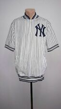 New York Yankees Jersey MLB Pullover Stitches Zip Vintage Baseball Men's Size L
