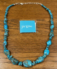 Finds Turquoise & Silver Necklace Nib - Jay King Mine