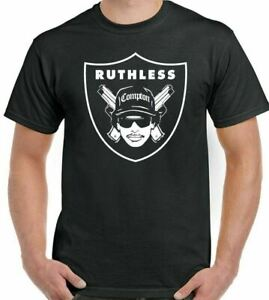 Eazy E T-Shirt Compton Raiders Mens NWA Oakland Ruthless Records Straight Outta