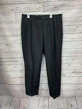 B37 CANALI Black Pleated Dress Pants Mens Size 36/27 100% Wool