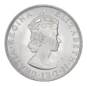 Choice BU Unc 1964 Bermuda 1 Crown Silver Coin - Mint State *804