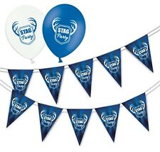 Set of Stag Party Bunting 15 flags & Pack of 10  Printed Latex Asst Balloons