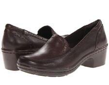 Easy Spirit Leoda loafer slip-on detailed dark brown soft leather sz 8.5 Med NEW