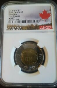 2018 Canada $2 Polar Bear First Releases - NGC MS67