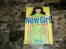 Zooey Deschanel Rare Authentic Hand Signed Photo Proof Candid She & Him Band COA