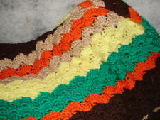 New Handcrafted Crochet Afghan Throw Blanket  Nice Multi color Afghan handmade