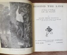 1935 Behind The Line- Story of College Life & Football- Ralph H. Barbour HILLTON