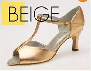 Equity 4915 Jade Beige Women's Size 7.5M (Fits 9.5) Ballroom Dancing Shoes
