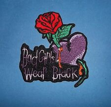 BAD GIRLS WEAR BLACK SEW OR IRON ON  PATCH