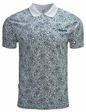 Lambretta Paisley Polo Shirts Mens Printed T-Shirts Cotton Summer Tees UK S-4XL