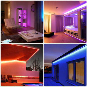 1/15/20M LED Strip Lights RGB Colour Changing Tape Under🔥Cabinet Lighting Party