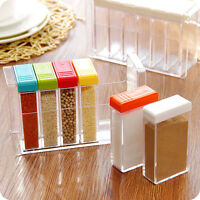 6 pcs Cruet Set Salt Pepper Condiment Seasoning Box Storage Box Kitchen Tool new