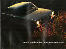 Datsun Nissan 1600 Bluebird Saloon 1969-70 UK Market Sales Brochure