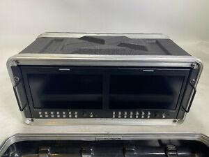 """TVLogic RKM-290A Dual 9"""" HD/SD Multichannel LCD,flight cased+fan + distribution"""