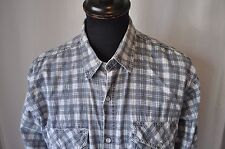 Vintage check grey western shirt size large mod casual