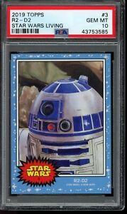 2019 Topps Star Wars Living Set #3 R2-D2 PSA 10 Gem Mint SP Card
