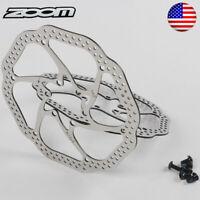 140/160/180/203mm MTB Bike Disc Brake Rotor 6 Bolts Rotor Bicycle Brake Pads US
