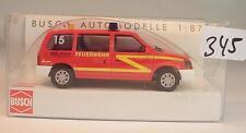 Busch 1/87 Nr. 44618 Chrysler Voyager Van Kombi Feuerwehr Münster/Osna. OVP #345
