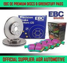 EBC FRONT DISCS AND GREENSTUFF PADS 258mm FOR TOYOTA MR2 1.6 (AW11) 1984-90
