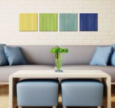 Colorful Art Contemporary Metal Giclee, Modern Artwork Bright Home Accents Decor