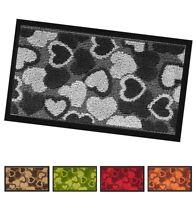 Zerbino asciugapassi interno 40x70 antiscivolo antinciampo tappeto stuoia cuori