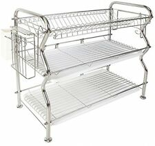 NEX Dish Rack 3-Tier Stainless Steel Dish Drainer Rack, Free Shipping