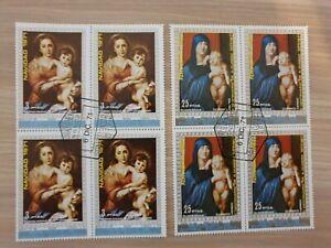 Equatorial Guinea 1971 Christmas 2 x 4 blocks stamps CTO