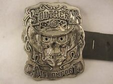 """Hot Leathers  Southern Discomfort Belt Buckle   3"""" x 3 3/4""""  NEW  (1216EC) 4279"""