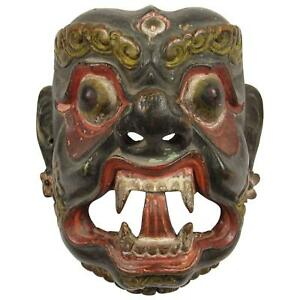 Museum-Quality, Antique, Nepalese-Tibetan (Tibet) Danced, Mask of Deity Mahākāla